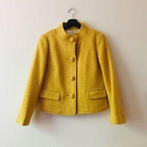 J.Crew | Mustard Yellow Four Button Pocket Jacket